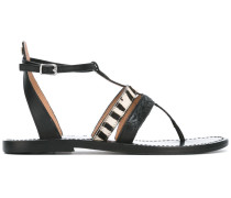 Sandalen mit Zebramuster