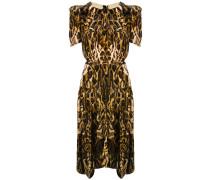 Ulia velvet leopard dress