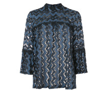zig zag lace blouse