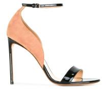Zweifarbige Stiletto-Sandalen