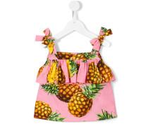 - Top mit Ananas-Print - kids - Baumwolle - 8 J.