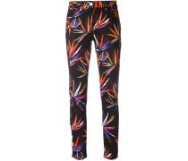 Jeans mit Blätter-Print - women