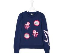 Teen Signature floral embroidered sweatshirt