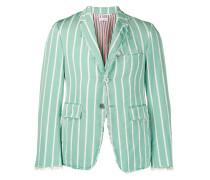 striped distressed blazer