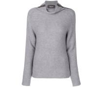 roll neck stripe sweater