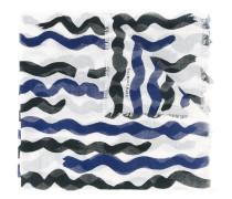 Semitransparenter Schal mit Wellenmuster