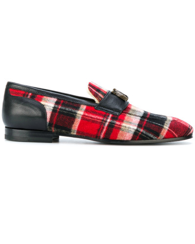 tartan printed loafers - Unavailable