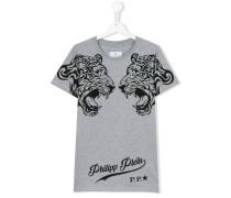 T-Shirt mit Tiger-Print - kids - Baumwolle - 14