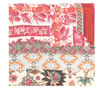 floral argyle embroidered scarf