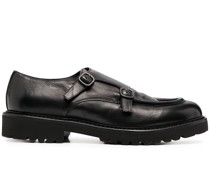 double buckle monk shoes