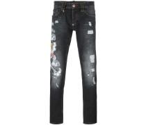 Jeans mit Tigerstickerei - men - Baumwolle - 31