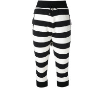 striped crop trousers - women