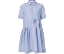 striped asymmetric shirt dress