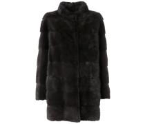 Mantel aus Kaschmir und Nerzpelz
