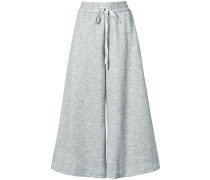 Luxe jersey culottes with drawstring waist