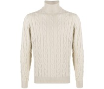 cable-knit merino jumper