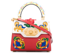 Welcome Majolica embroidered tote bag