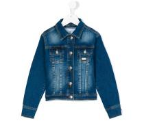 Jeansjacke mit Eton-Kragen