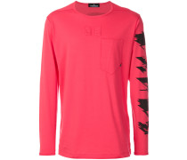 graphic print long sleeve top