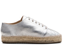Espadrilles in Metallic-Optik