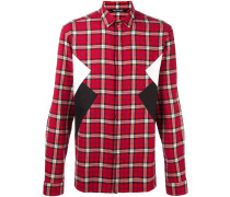 panelled check shirt