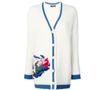 Cardigan mit Blumen-Motiv