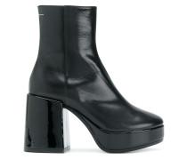 zipped platform boots