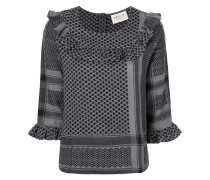 patterned top with frill