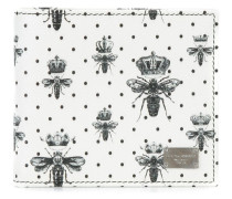 Portemonnaie mit Kronen- und Bienen-Print