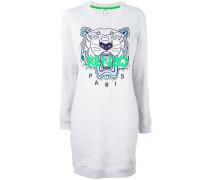 Sweatshirtkleid mit Tigerstickerei - women