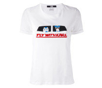 'Fly With Karl' T-Shirt - women - Baumwolle - L