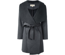 wrap-style belted coat