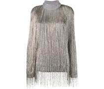 Oversized-Pullover mit Perlenfransen