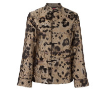 Gesteppter Hosenanzug mit Leopardenmuster