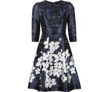 Metallisches Kleid mit floralem Print