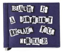 Garavani Jamie Reid slogan money clip wallet