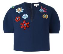 Verzierte Cropped-Jacke mit strukturiertem Design
