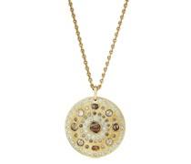 18kt 'Talisman' Gelbgoldhalskette mit Diamanten