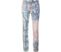 Tie Die Distressed Jeans