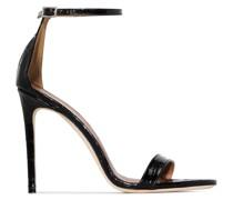 Sandalen mit Kroko-Effekt 105mm