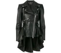 peplum waist biker jacket