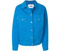 brand patch denim jacket