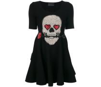 Kleid mit Totenkopf-Applikation