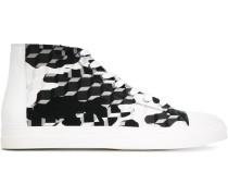 High-Top-Sneakers mit Würfel-Print