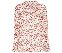 Seidenhemd mit Kirschen-Print