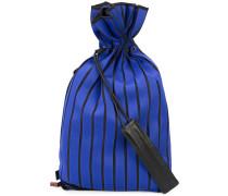 ribbed backpack - women - Leder/Viskose