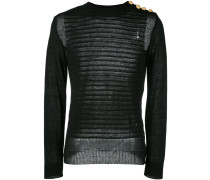 embossed striped jumper