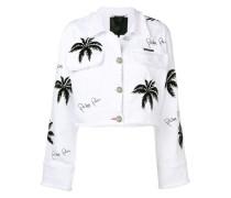 Jeansjacke mit Palmenmotiv