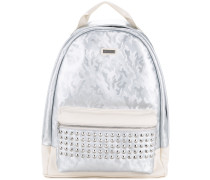camouflage studded backpack