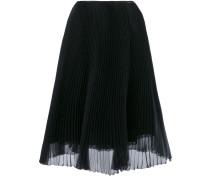 Black Silk Pleated Skirt